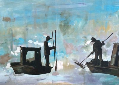 2 Scallopers (cropped) 24 x 36