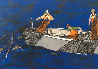 3 Men And Their Nets 24 x 36