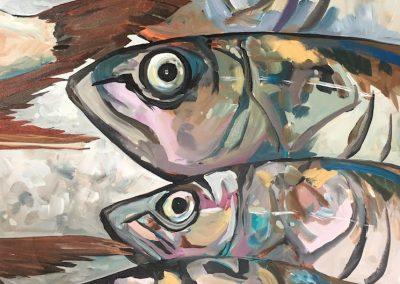 4 Fishheads 36 x 48