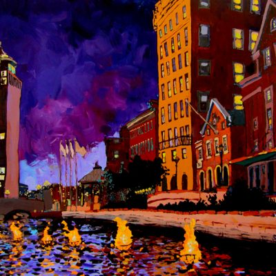 Purple Waterfire