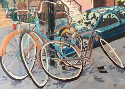 Bikes In Brooklyn 16 x 20