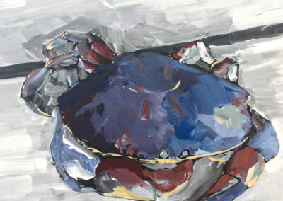 Blue crab 12x16