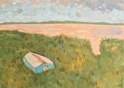 Dinghy In The Weeds 9 x 12