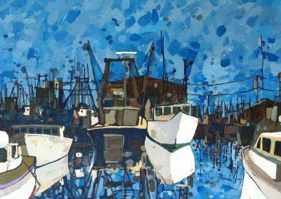 Harbor Boats 16 x 20