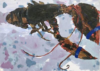 Purple Gray Lobster 9x12