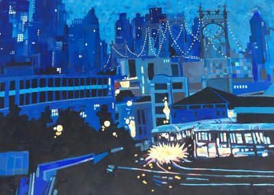 NYC At Night 36 x 48