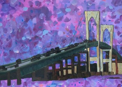 Purple Pell Bridge 18 x 36