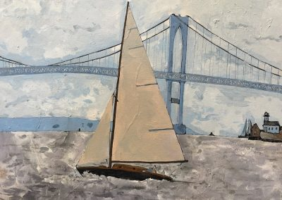 Sailing Parallel To Pell 16 x 20