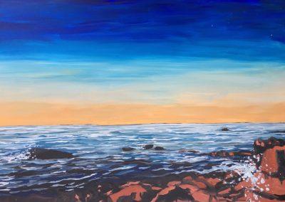 Sunset Rocks 24 x 36