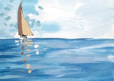 Two Tanned Sails 12 x 24