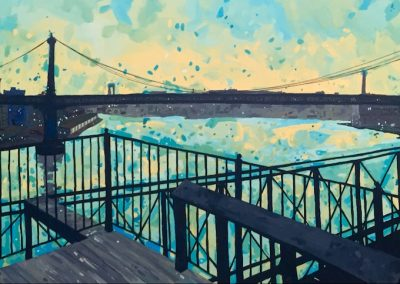 View Up The Hudson 24 x 48
