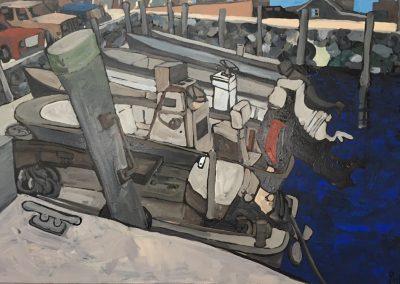 Westport Harbor Boats 24 x 36